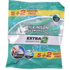 Ühekordsed pardlid Extra2 Sensitive Wilkinson Sword (7 uds)