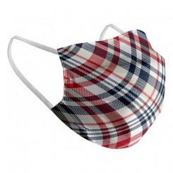 Hügieeniline taaskasutatav kangasmask/riidemask Valge Šotlane Täiskasvanu
