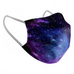 Hügieeniline taaskasutatav kangasmask/riidemask Space Täiskasvanu