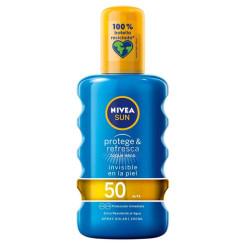 Päikesekaitse pihusti Protege & Refresca Nivea Spf 50 (200 ml)