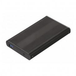Väline Korpus TooQ TQE-2524B HD 2.5 SATA III-USB 3.0 FAT32 / NTFS / eXT2 / HFS Alumiinium Must